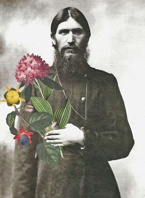 I love this. msneauxneaux: Rasputin Brings Me Flowers by Paperworker on Flickr.