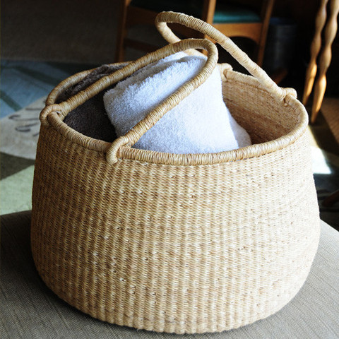 This beautiful basket for storage in our new space