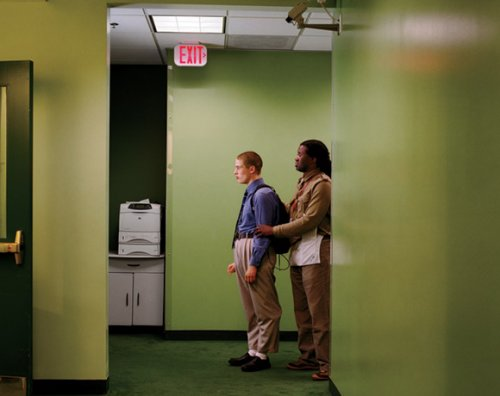 from  School of Shock , photo essay by Larry Sultan     These surreal photos feel like staged illustrations, but I'm assuming they are real situations. Sort of One Flew Over the Cuckoo's Nest (still a great movie by the way) meets Brave New World.