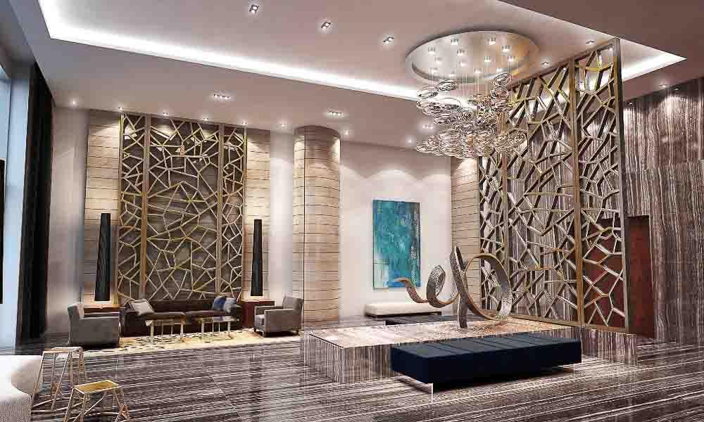 LW 8 2nd View Lobby Marina Palms Yacht Cub & Residences