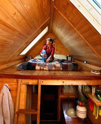 dee williams tumbleweed loft tiny house cabin 2jpg - Tiny House Interior 2