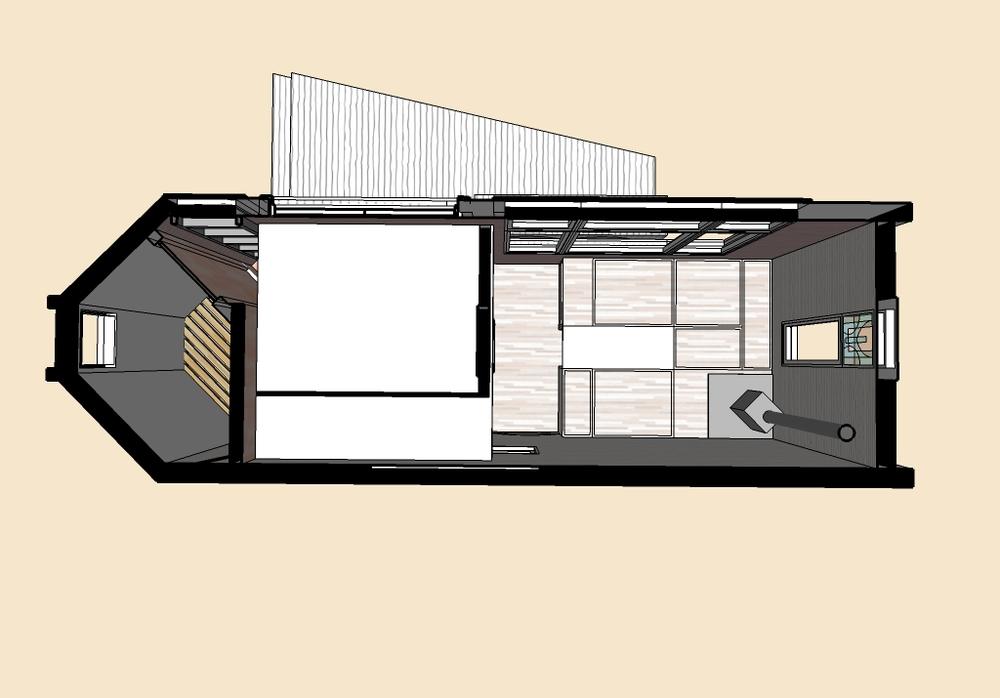 Floor plan showing the loft