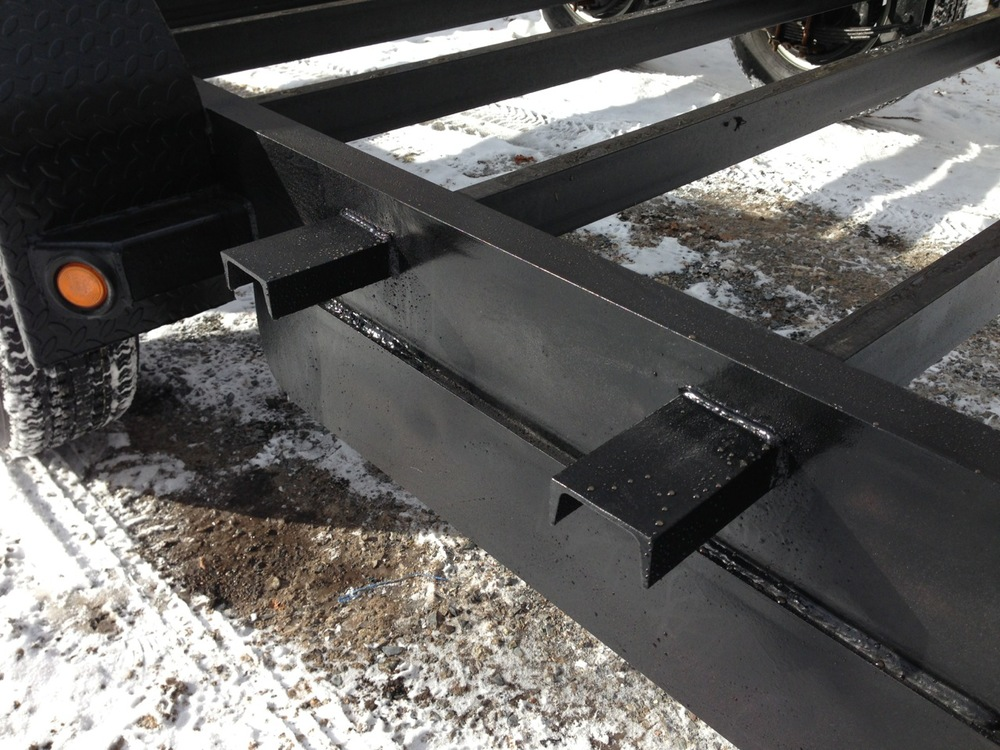 Supports for bolting two by six footer for the extended width.