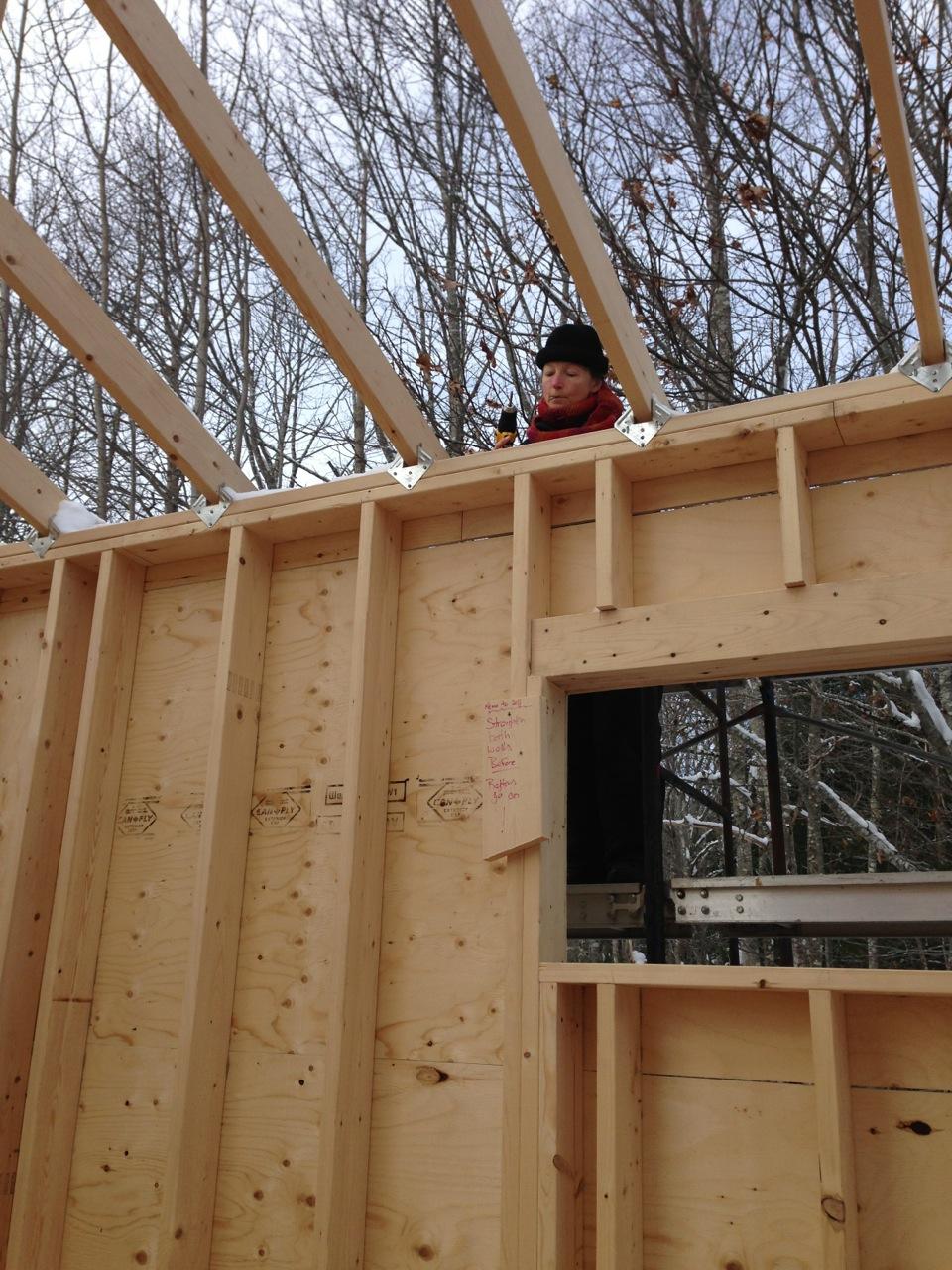Harmony house installing exterior sheathing full moon for Exterior sheathing