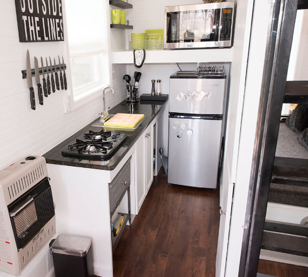 Kitchens full moon tiny shelters Kitchen design for tiny house