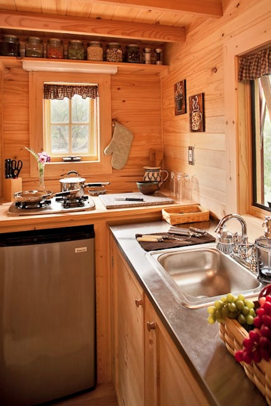 tiny house kitchen at the lodgejpg