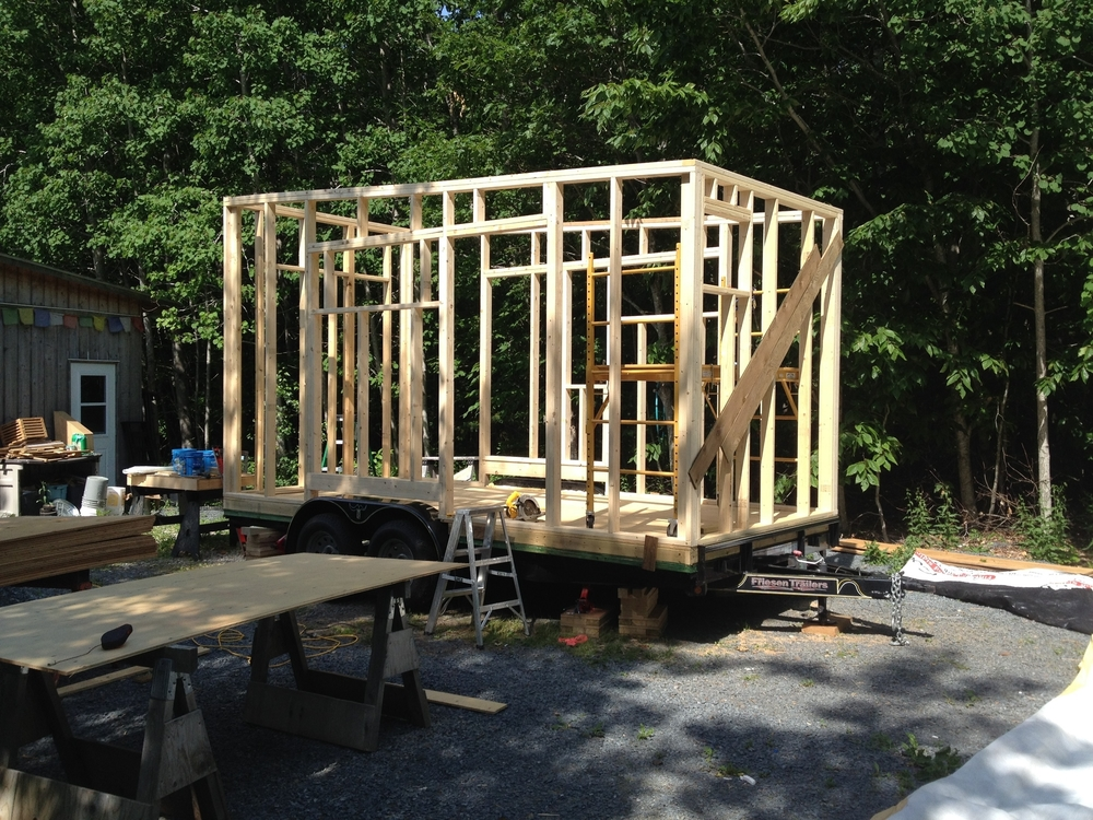 framing in on a beautiful day.