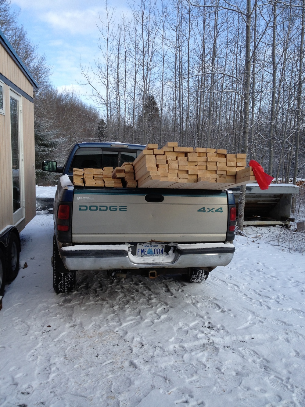 First load of Hemlock for framing.