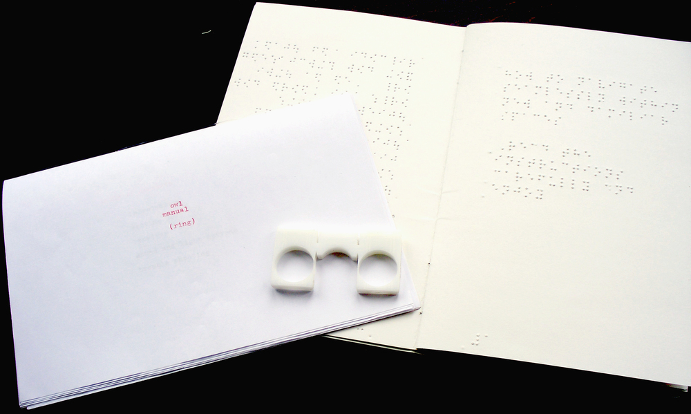 Braille and English Manual with prototype ring