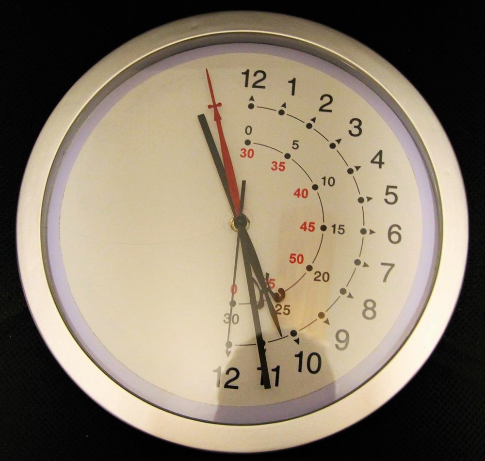 Specially Designed Clock For Those With Hemispatial Neglect