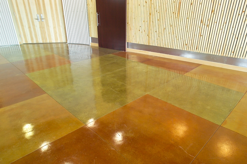 New Coop Stained Concrete Floors