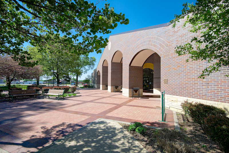 Fort Dodge Library Courtyard