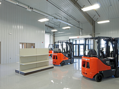 Bluesky Doosan Forklift Facility - Construction