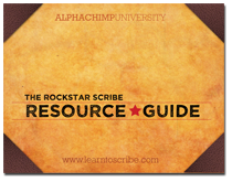 Enter your email & receive: The Rockstar Scribe Resource Guide (PDF)