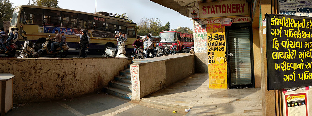 Handwritten typography on the streets of Ahmedabad