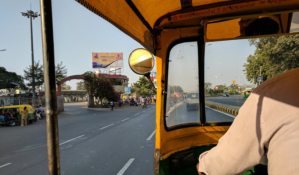 Taking to the streets in a tuk-tuk.