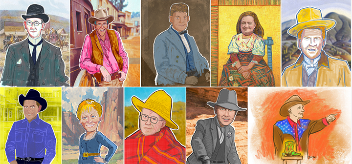ABOVE:  In advance of the big event, Alphachimp created digital paintings of the CBA Board Members and CEO in full Western cowboy attire.
