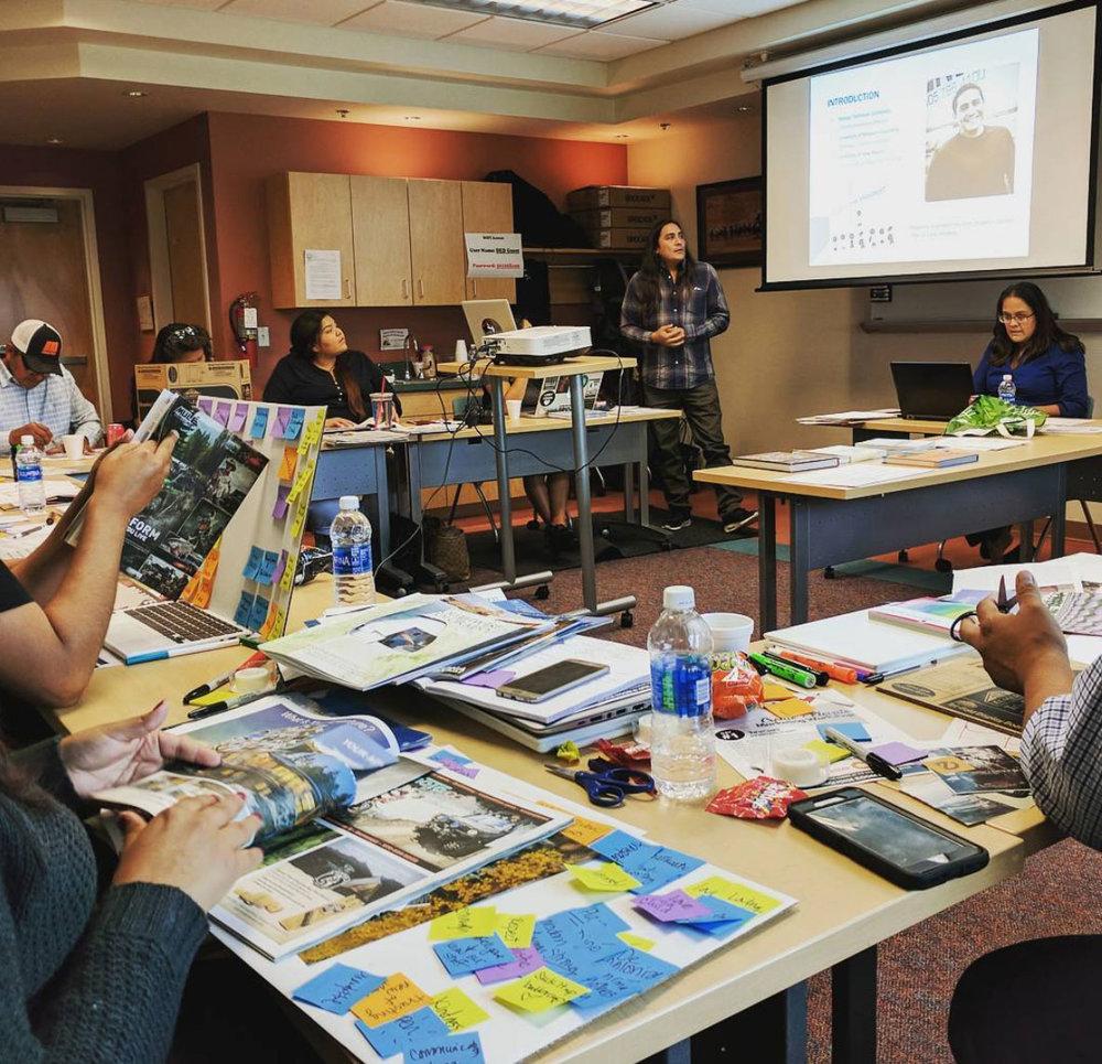 Daniel Vandever , Communications Director of Navajo Technical University presents to Start-ups.