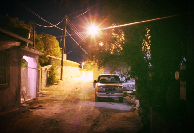 We camped in a family's driveway at the end of this street in Santa Rosalia, Baja Sur.