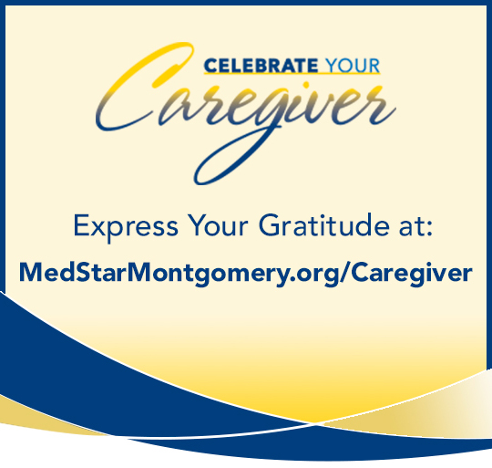 Zone 4: MedStar Montgomery Hospital, displaying a gratitude slide