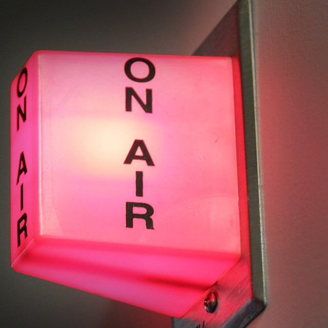 The 'on air' light from my #WGN radio interview! So cool. #WGNRadio720  #amandabrommel