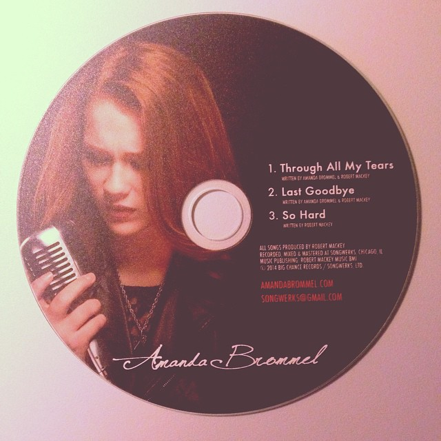 My first EP #music #ep #amandabrommel #songwerks #throughallmytears #lastgoodbye #sohard