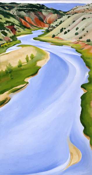 Chama River, Ghost Ranch, New Mexico (Blue River)  , 1935   Georgia O'Keeffe