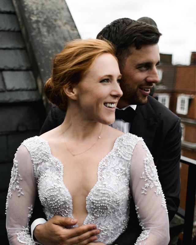 I love when brides can't contain their smile. | Also, fun fact, Meryl received this @maya_brenner necklace from Hugh before Prince Harry gave one to his girlfriend. (You'll see an up close version on my blog soon!) These two are gems and make London rooftops look amazing. I'm editing more of their wedding today and am truly thankful for this little app, because without it I wouldn't have booked this beautiful wedding, but even more so, wouldn't have been able to spend time with these two humble individuals and celebrate them with their precious families on their wedding day. | Cheers to smiling in wedding photos! | #london #londonwedding #londonbride #destinationweddingphotographer #bride . . . . . #bohobride #englandwedding #ukwedding #visitscotland #igersscotland #glenetive #glencoe #isleofskye #ukweddingphotographer #artofvisuals #instagood #wanderingphotographers #lookslikefilm #elopementcollective #elopementphotographer #igersedinburgh #edinburgh #edinburghwedding
