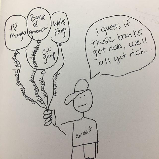 Comic to the financial choice act. #financialchoiceact #crappycomics