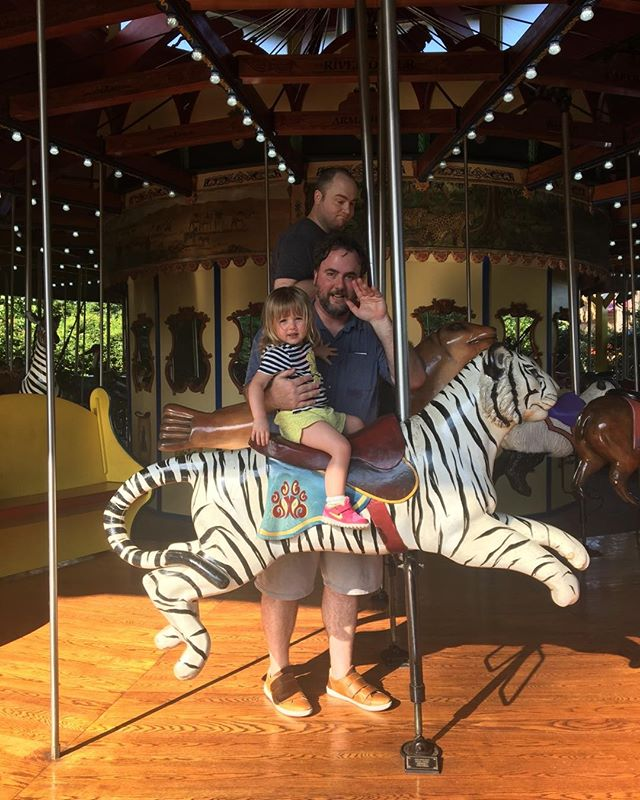 Zoo yesterday.  By the end of this ride both shoes were missing. #tildabeast