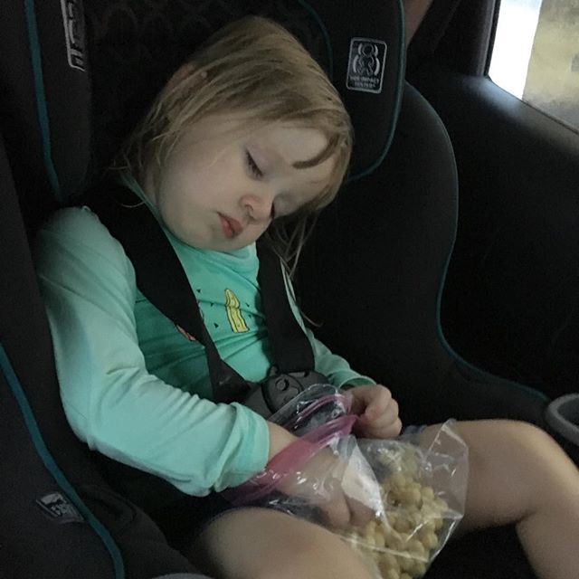 Post swim snack turns into nap in no time.