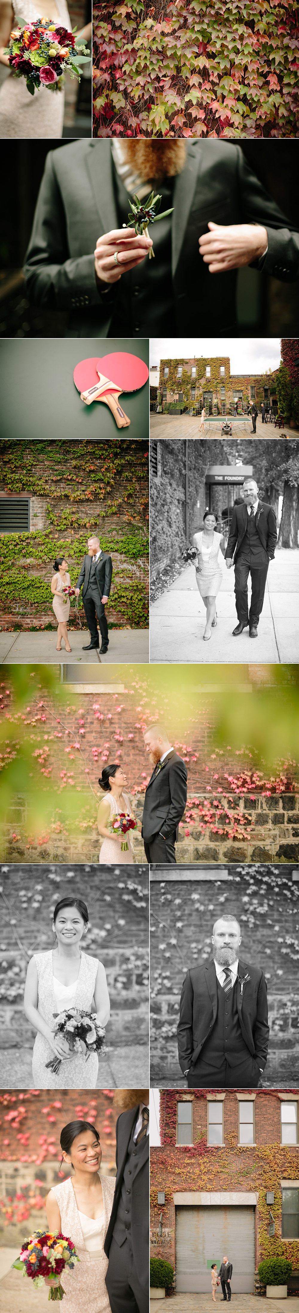 An Autumn wedding at the Foundry in Long Island City, NYC.
