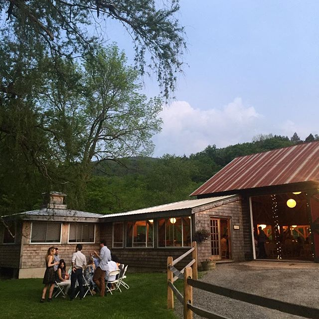 We're celebrating this weekend with Katie and Greg in the Catskills. Tonight was the most perfect summer night for their rehearsal dinner. #postynpartyoftwo