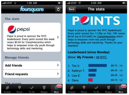 Pepsi-Foursquare