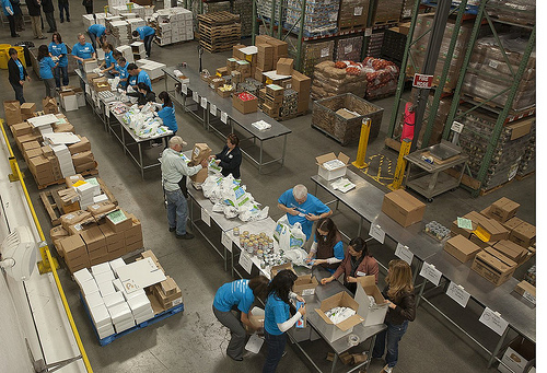 Food Bank Bags 15k With Cause Marketing Social Media Selfish Giving