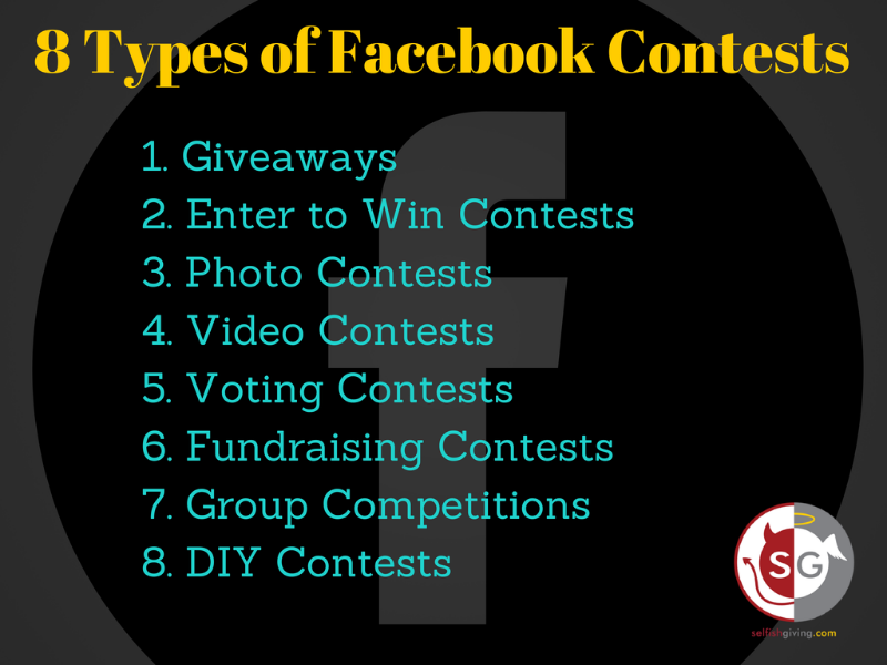 8 types of facebook contests