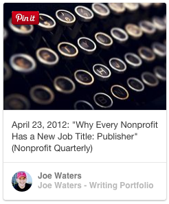 nonprofit content marketing