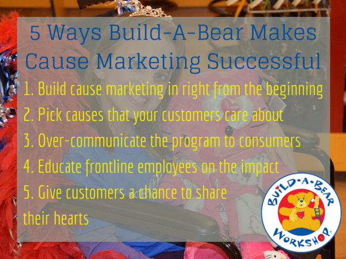 build a bear cause marketing