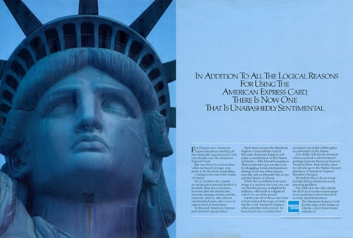 "American Express coined the term ""Cause-Related Marketing"" in 1983"