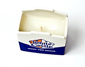 White Castle's hamburger & onion scented candle benefits Autism Speaks.