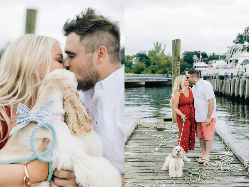 An Engagement Session by the Water in Family Boatyard with Puppy by Magdalena Studios_0014.jpg