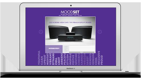 Moodset Landing Page Website