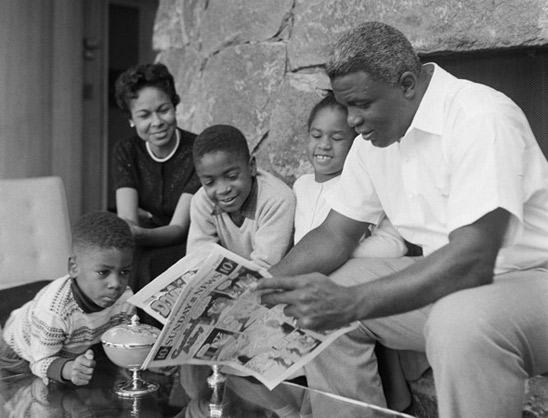 Design Greatness -  Jackie Robinson with Family