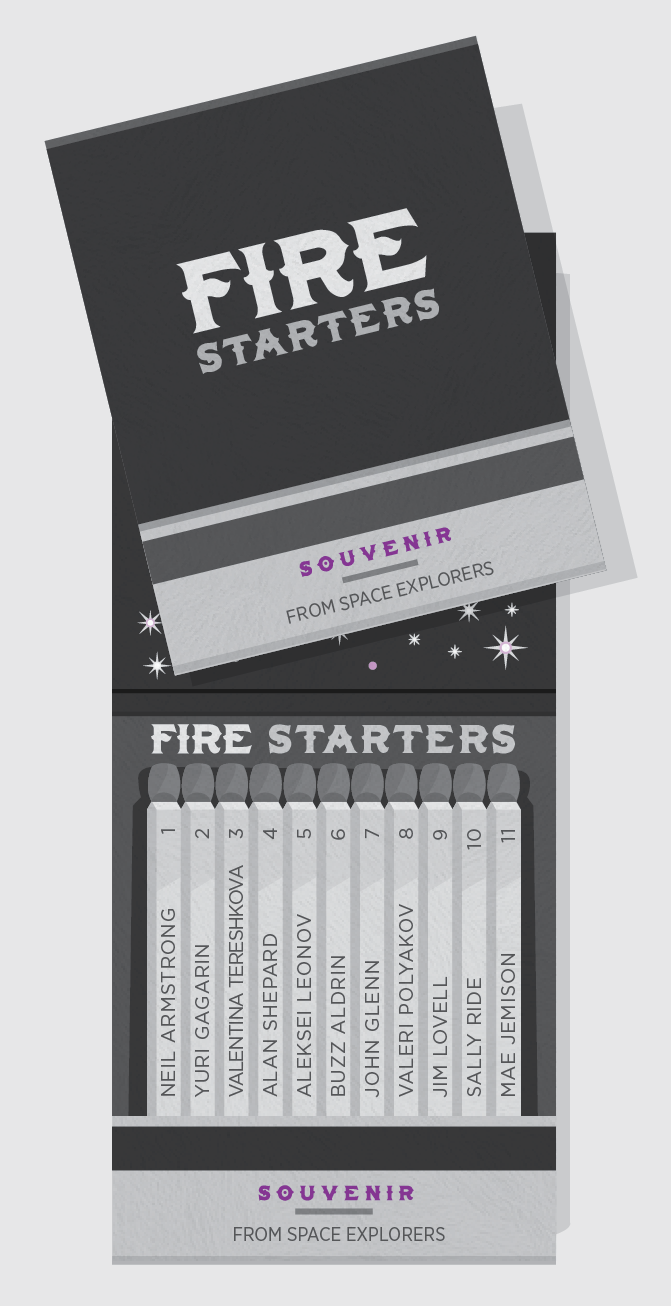 Fire Starters -  Space Explorers/Astronauts