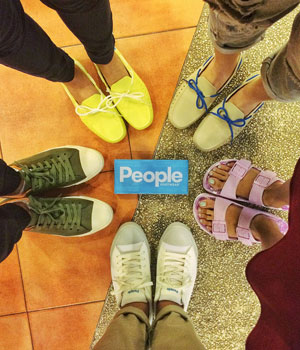 PEOPLE FOOTWEAR People Footwear produces supremely comfortable high-performance leisure footwear through the combination of classic style and contemporary construction. Taking the performance hallmarks of an athletic shoe into daily footwear, People have created shoes that envelope your feet and express a balance of support and freedom. This is what shoes should feel like.   learn more