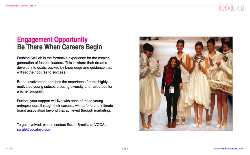 Fashion Career Kickstarter