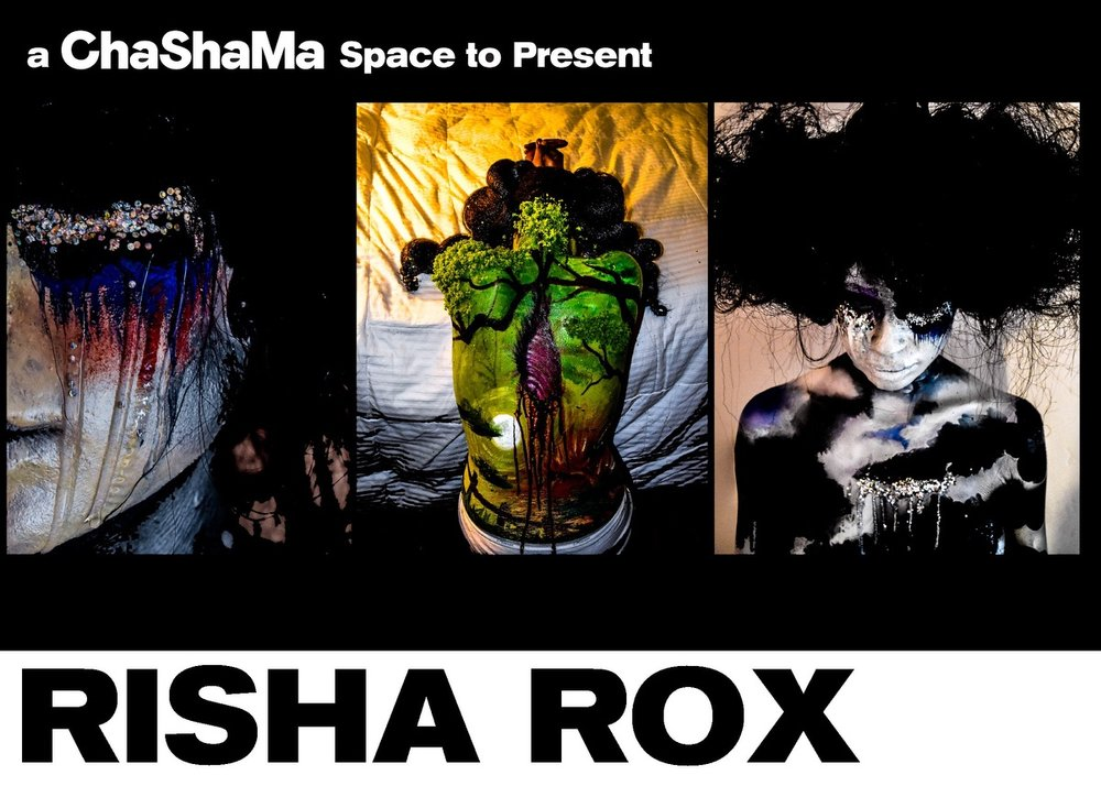 SEE.ME RISHA ROX EXHIBITION - AUGUST 1, 2018   Renowned artist Risha Rox will premiere her collection Heavenly Bodies on the evening of August 1 in BK, NYC. The collection explores the cosmos with bursting colours that express a vivid vision of the galaxies interwoven with the shape of the human body.