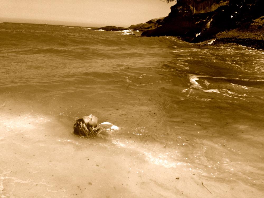 My idea of bodysurfing. Praia na Vidigal.
