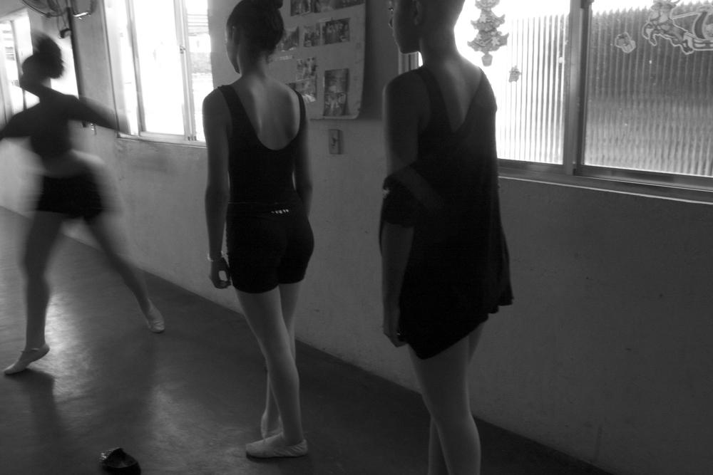 Dance teacher Ani Carolini demonstrating a pirouette.