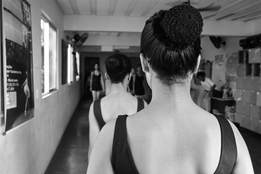 Ballet bun.